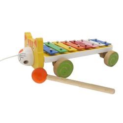 Detský xylofón na ťahanie Mačička