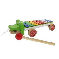 Detský xylofón na ťahanie Krokodíl