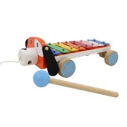 Detský xylofón na ťahanie Psík