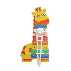Detský farebný xylofón Žirafa