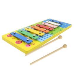 Detský farebný xylofón - modrý