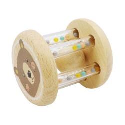 VIGA drevená hrkálka - macko