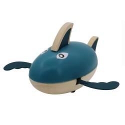 Drevená hračka na vodu - žralok modrý