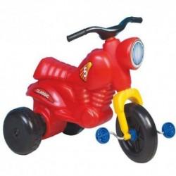 Detské odrážadlo Classic 5 motorka s pedálmi - červená