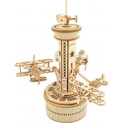 ROKR Drevený mechanický model - hracia skrinka - Kontrolná letecká veža
