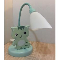 Detská stolná lampa - mačička zelená