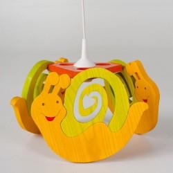 Detská stropná lampa 3-ramenná - slimáčik