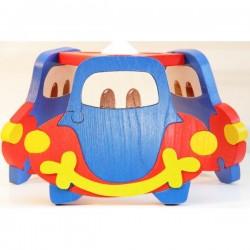 Detská stropná lampa 3-ramenná - autíčko