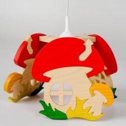 Detská stropná lampa 3-ramenná - hríbik