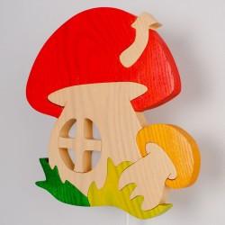 Detské nástenné svietidlo - hríbik