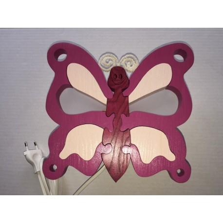 Detské nástenné svietidlo - motýľ fialový