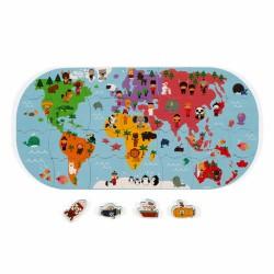 JANOD Hračka do vody puzzle Mapa sveta 28 ks J04719