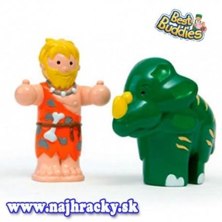 WOW Figúrky - Pračlovek a dinosaurus