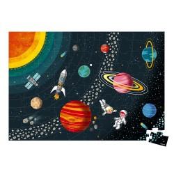 Janod Vzdelávacie puzzle pre deti Vesmír a slnečná sústava 100 ks J02678