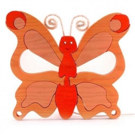 Detské nástenné svietidlo - motýľ oranžový