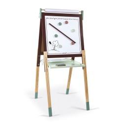 JANOD magnetická tabuľa obojstranná polohovateľná - hnedo-zelená