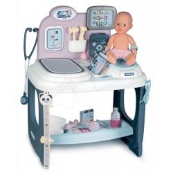 SMOBY Zdravotnícky pult pre lekára Baby Care Center s bábikou a 28 doplnkami