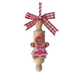 Vianočná dekorácia - medovník dievčatko na valčeku 141857