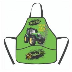 Detská zástera na maľovanie - Traktor