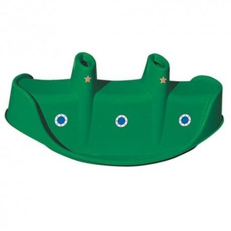 MARIANPLAST Detská obojstranná hojdačka Loďka zelená