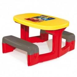 SMOBY Detský stôl piknik Cars s úložným priestorom a otvorom na slnečník