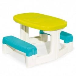 SMOBY Detský stôl piknik s úložným priestorom a otvorom na slnečník