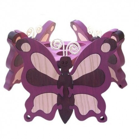 Detská stropná lampa 3-ramenná - motýľ fialový