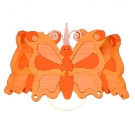 Detská stropná lampa 3-ramenná - motýľ oranžový