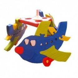 Detská stropná lampa 3-ramenná - lietadlo