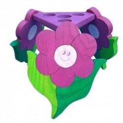 Detská stropná lampa 3-ramenná - kvietok fialový