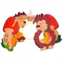 Detská stropná lampa 4-ramenná - ježko/hríbik