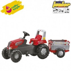 Rolly Toys Detský šlapací traktor Junior s vlečkou