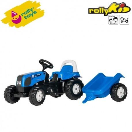 Rolly Toys Detský šlapací traktor Kid Landini s vlečkou