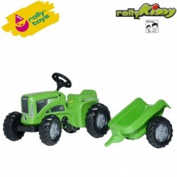 Rolly Toys Detský šlapací traktor Kiddy Futura s vlečkou
