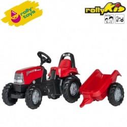 Rolly Toys Detský šlapací traktor Kid Case CVX 1170 s vlečkou
