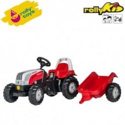 Rolly Toys Detský šlapací traktor Kid Steyr 6160 CVT s vlečkou
