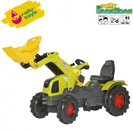 Rolly Toys Detský šlapací traktor FarmTrac Claas Axos 340 s lyžicou