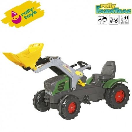 Rolly Toys Detský šlapací traktor FarmTrac Fendt 211 Vario s lyžicou