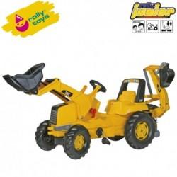 Rolly Toys Detský šlapací traktor Junior CAT s lyžicou a s bagrom