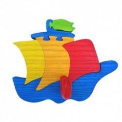Detský minivešiak - loďka modrá