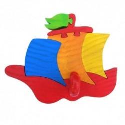 Detský minivešiak - loďka červená
