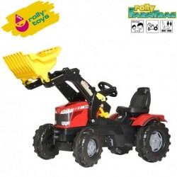 Rolly Toys Detský šlapací traktor FarmTrac Massey Ferguson 8650 s lyžicou