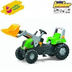 Rolly Toys Detský šlapací traktor Junior s lyžicou
