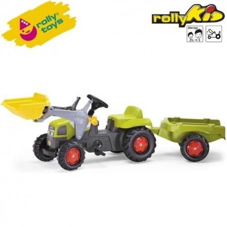 Rolly Toys Detský šlapací traktor Kid Claas s vlečkou a lyžicou