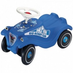 BIG Detské odrážadlo Bobby Classic auto so zvukom modré Delfíny&Polícia