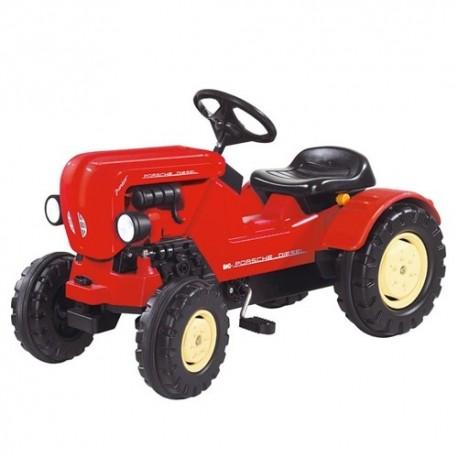 BIG Detský šliapací traktor Porsche Diesel Junior červený
