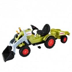 BIG Detský šliapací traktor Claas Celtis s vlečkou zelený