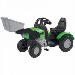BIG Detský šliapací traktor John XL s nakladačom zelený