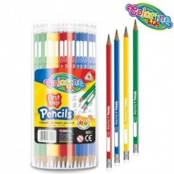 Colorino Kids grafit ceruzky s gumou 4 ks