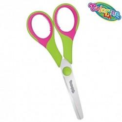 Colorino Kids detské nožnice - zeleno-ružové